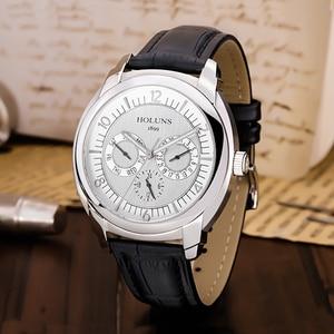 Image 2 - HOLUNS/Роскошные мужские часы, кварцевые наручные часы, мужские спортивные деловые армейские часы из нержавеющей стали, водонепроницаемые
