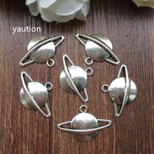 Wholesale 20pcs Tibetan silver Saturn Charm Pendant beaded Jewelry Findings Jewelry Accessories(China)