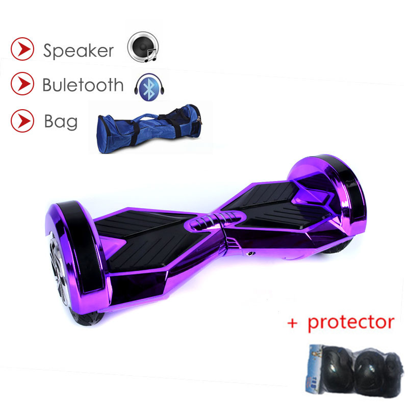 Hoverboard 8 inch 2 Wheel Scooter Self Balance Electric Scooter Bluetooth LED Light Smart Electric Scooter Skateboard Hoverboard app controls hoverboard new upgrade two wheels hover board 6 5 inch mini safety smart balance electric scooter skateboard