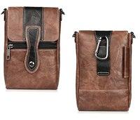 Holster Man Shoulder Belt Clip Mobile Phone Leather Case For Nokia 5 Oukitel U7 Max K6000