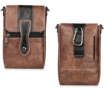Holster Man Shoulder Belt Clip Mobile Phone Leather Case For Nokia 5,Oukitel U7 Max/K6000 Plus/U13/U20 Plus/U15S/U15 Pro/U7 Plus