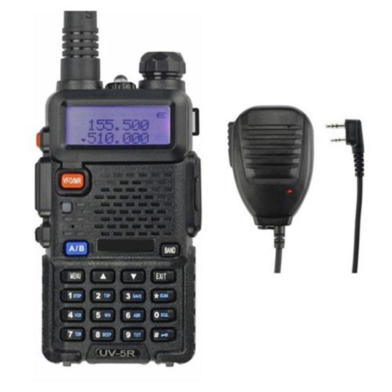 Baofeng UV-5R Kit 136-174/400-520MHz 2M/70cm Walkie Talkie 5W UHF And VHF Dual Band Portable Ham Radio Remote Speaker Uv5r