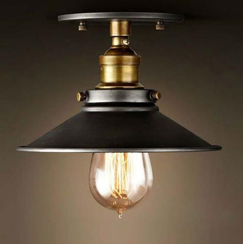 Loft Vintage Lampada Da Soffitto Rotondo Retro Luce Di Soffitto