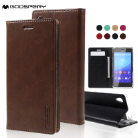 For Sony Xperia M4 Aqua MERCURY GOOSPERY Blue Moon PU Leather Case For Sony Xperia M4