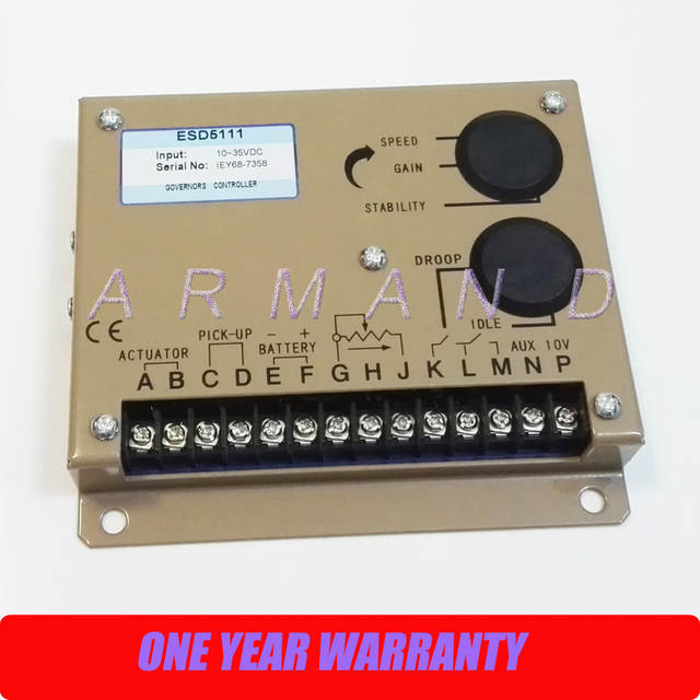 US $58 28 6% OFF|Electronic governor for generator speed control unit  controller ESD5111-in Generator Parts & Accessories from Home Improvement  on