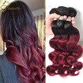 Queen Brazilian Virgin Hair Burgundy Bundles Alibaba Express Ombre Body Wave Hair Color 99j tissage bresilienne humain Ali Queen