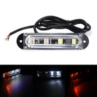 4 LED Blanc Jaune Voiture De Police Strobe Flash Light Bar Lampe Dash D'urgence Avertissement Clignotant Light Side Maker 12 V 24 V