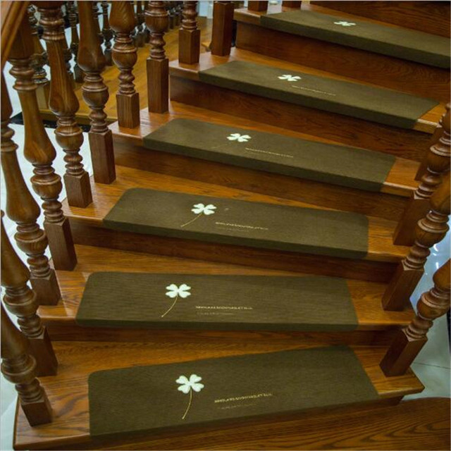 Luminous Floor Staircase Carpets Self Adhesive Non Slip Sticker Rugs Home  Leaf Grass Pattern