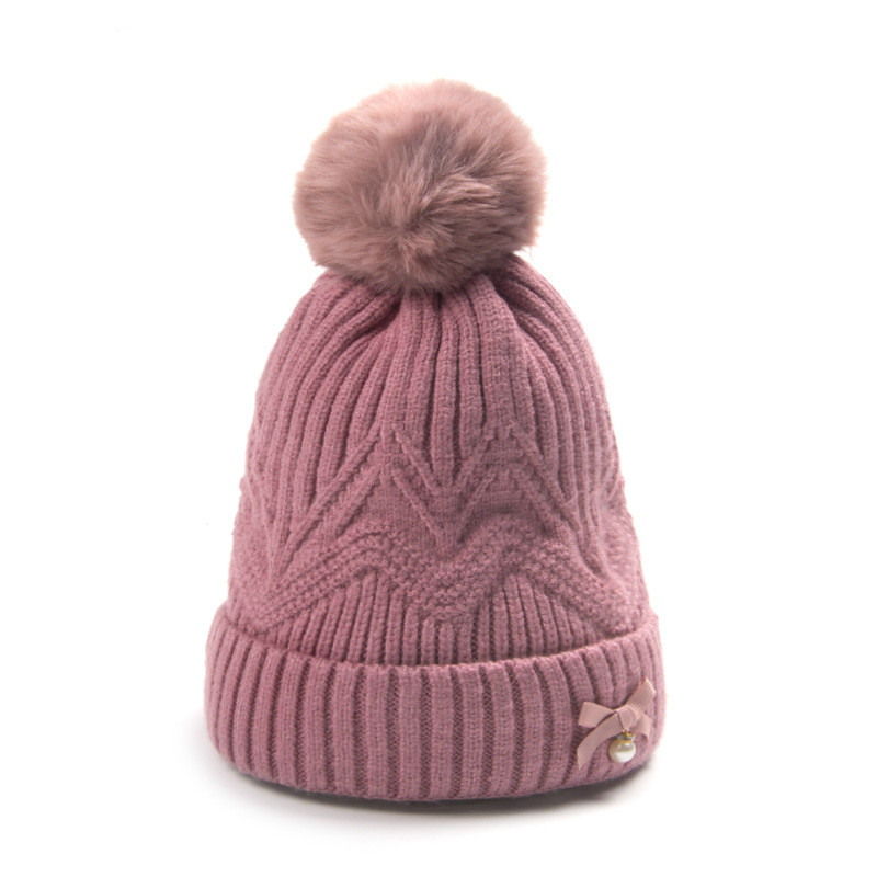 16*19cm Baby Hat Autumn Winter 1year Childrens Head Cap Boys And Girls Cartoon Baby Warm Wool Cap Christmas Gift For Kids