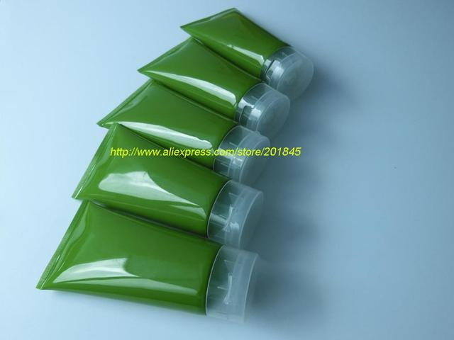 30 Pcs Atrovirens Cosmetics Clamshell Hose Bottle Bottling Hose Cleansing Cream Shower Accessories Packing Bottle 150Ml