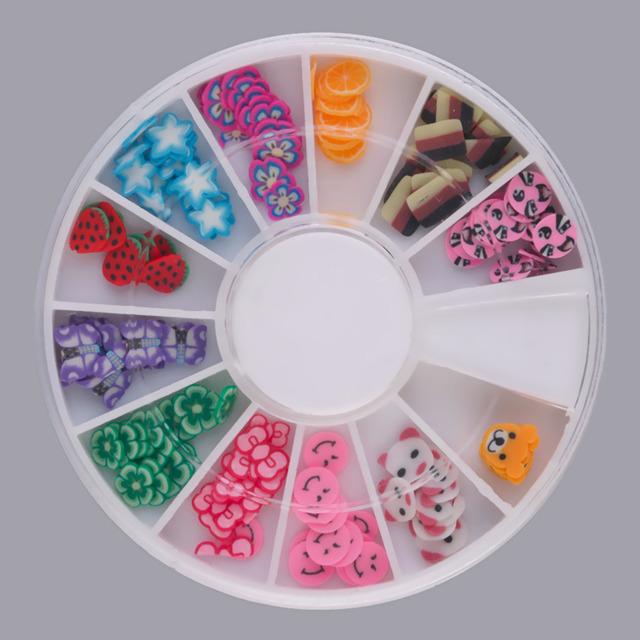20 x 3D Nail Art Nail Art Pedrinhas Glitters Acrílico Dicas Decoração Manicure Rodas de Alta Qualidade