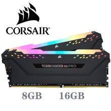 Corsair ddr4 pc4 ram 8gb 3000mhz rgb pro dimm suporte de memória desktop placa-mãe 8g 16g 3000mhz 3200mhz 3600mhz 16gb 32gb ram