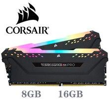 CORSAIR ddr4 pc4 RAM 8GB 3000MHz rvb PRO DIMM ordinateur de bureau de mémoire Support carte mère 8g 16G 3000Mhz 3200mhz 3600mhz 16gb 32gb de ram