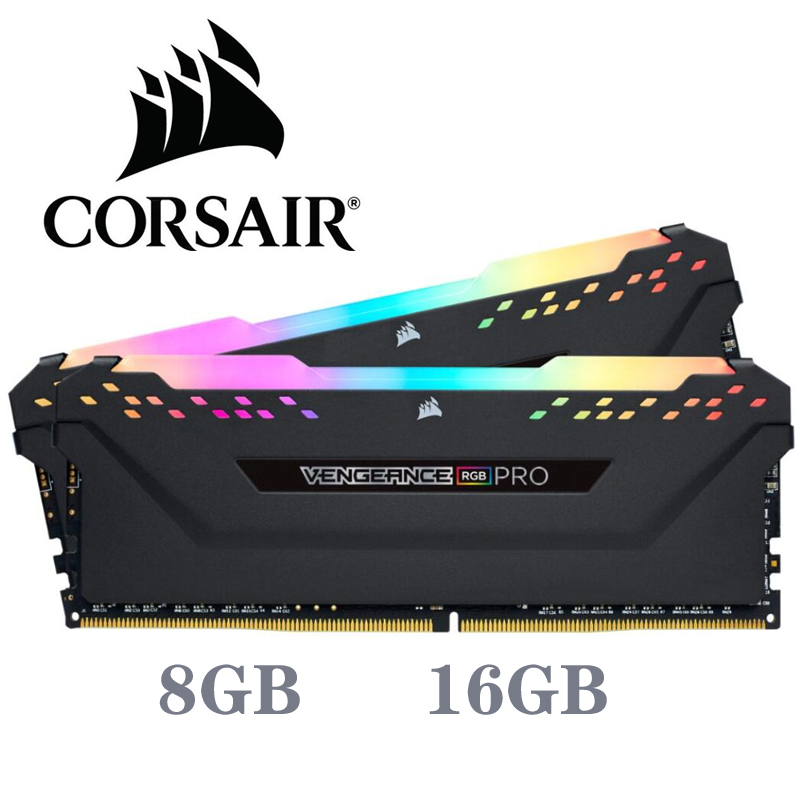 CORSAIR Ddr4 Pc4 Ram 8GB 3000MHz RGB PRO DIMM Desktop Memory Support Motherboard 8g 16G 3000Mhz 3200mhz 3600mhz 16gb 32gb Ram