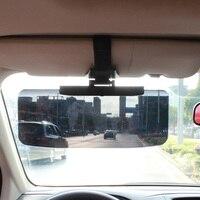 VOLTOP Car Sun Visor Occhiali Per La Visione Notturna Anti Glare Occhiali Parabrezza Parasole HD Occhiali Da Sole Scudi Giorno Notte di Guida Specchio