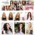 8A Clip En Extensiones de Cabello Humano Brasileño Recto Clip en Extensiones de cabello Cabello Humano Clip ins para Cabelo Pelo Negro Humano