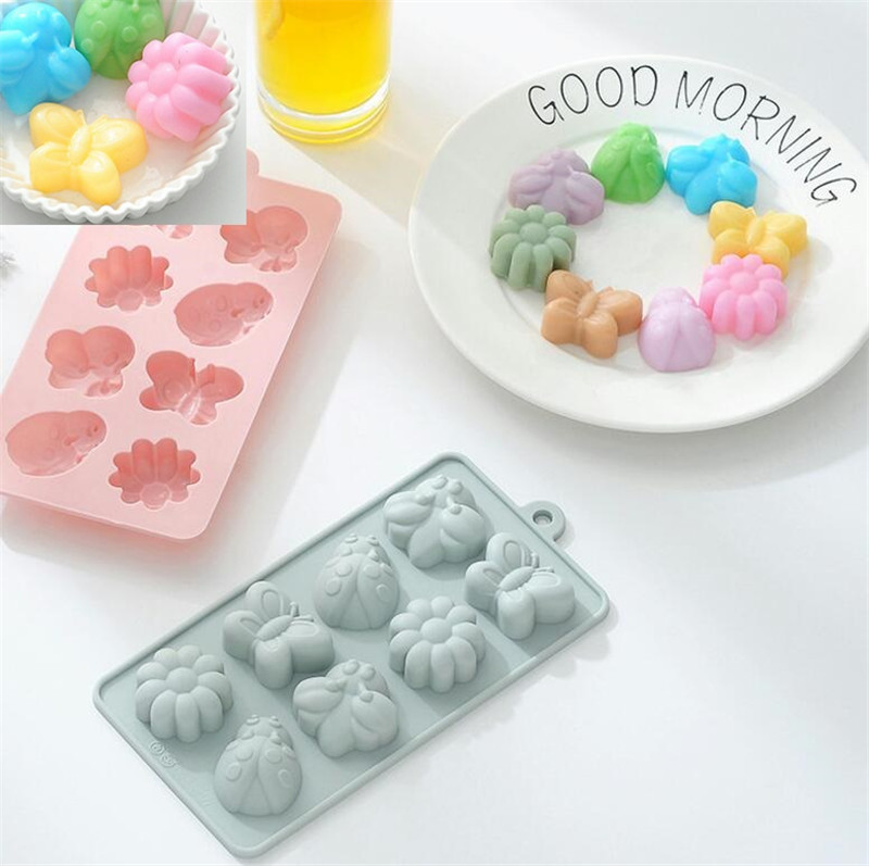 3D Butterfly Silicone Soap Mold Cake Decor Candy Chocolate Cookies Baking Mould