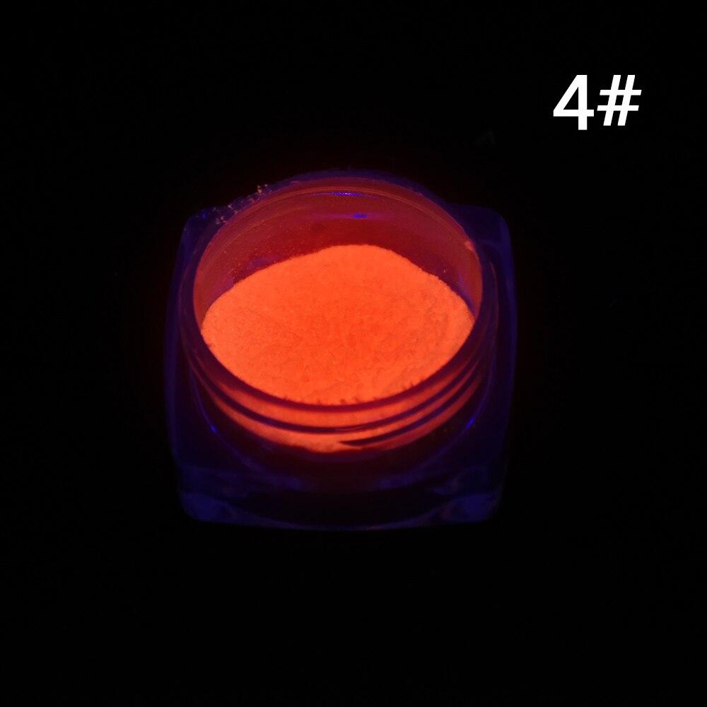 1 Neon Caixa De Fósforo Em Pó Prego Pó Glitter 10 Cores pó de Pigmento Luminoso Fluorescente Em Pó Prego Glitters Glow In The escuro 4