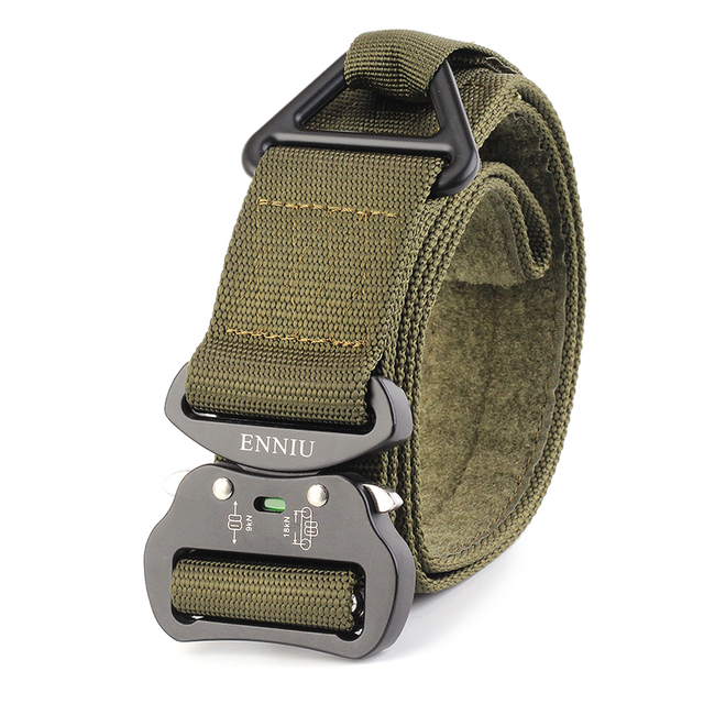Outdoor Heavy Duty Tactical Belt 2018 Quick Release Hunting Tactical Belt with Fastener Tape for Camping Hiking Climbing