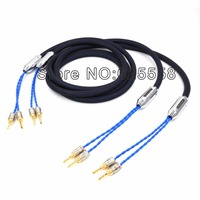 Siltech 25th Classic Anniversary 770L speaker cable silver gold wires with Banana plug connector