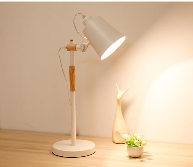 minimalist desk lamp white
