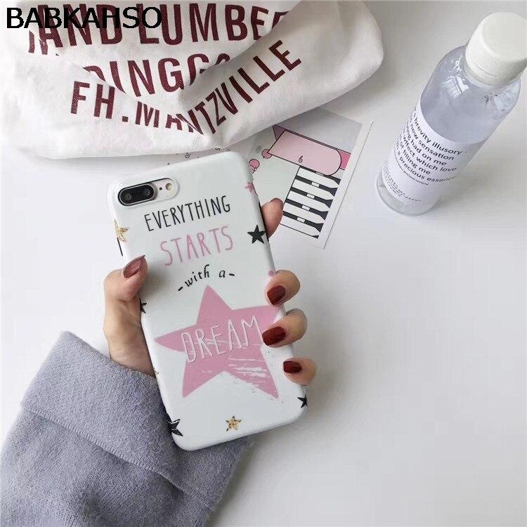 BABKAHSO For iPhone 7 7plus case 4.7 5.5 dream star case for iphone 6 6S Plus 6Plus capa fundas soft silicone casing