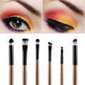 New 6 Pcs Eye Makeup Eyeshadow+Blending+Sponge+Smudge Oblique Nose Shadow Brush Set