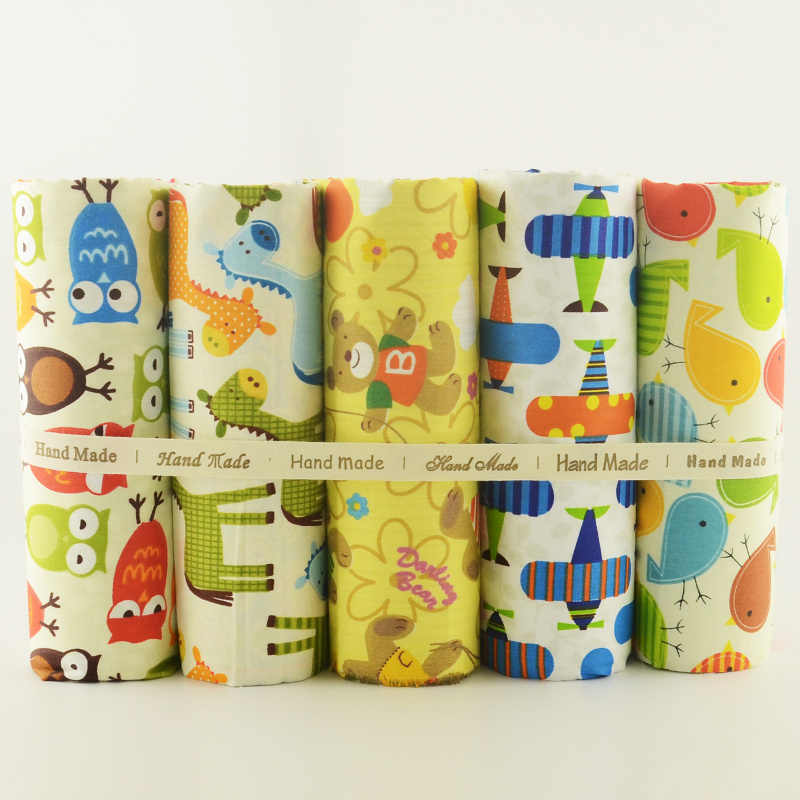 Teramila Cotton Fabric Lovely Cartoon Design 5PCS/lot 40cmx50cm Home Textile DIY Sewing Clothes Sewing Tecido Patchwork