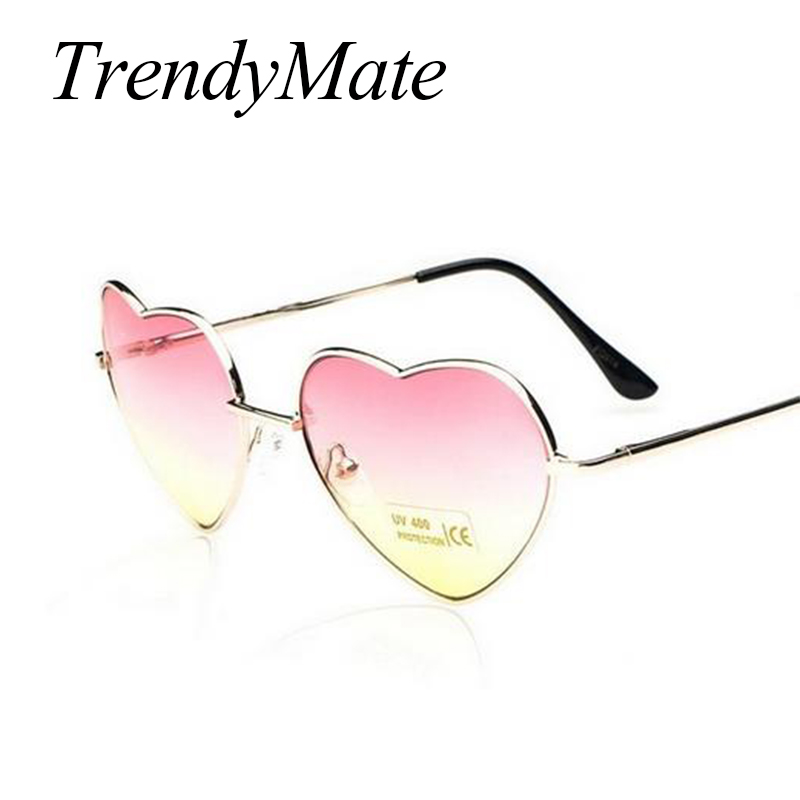 Love Shape Heart Sunglasses Women Brand Design Retro Alloy Frame Sun Glasses Vintage Mirror Sunglass Oculos De Sol Feminino M564 2