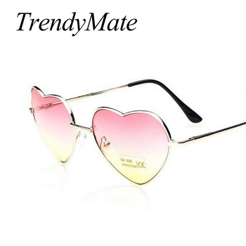 Love Shape Heart Sunglasses Women Brand Design Retro Alloy Frame Sun Glasses Vintage Mirror Sunglass Oculos De Sol Feminino M564 2