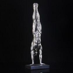 Abstract mannen Gymnastiek Beeldje Hars Handstand Sculptuur Sport Karakter Decoratie Ornament Gift en Ambachtelijke Accessoires