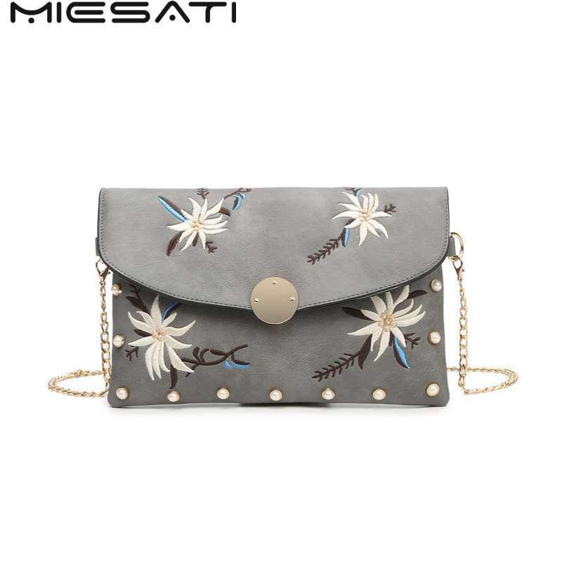 MIESATI Vintage Embroidered Bag Women Shoulder Bags For Women 2017 Wristlet Clutch Bag Handmade Fabric Embroidery Summer Bag lady one shoulder bags vintage women s embroidered shoulder bag handmade ethnic flowers embroidery women small day clutch bags