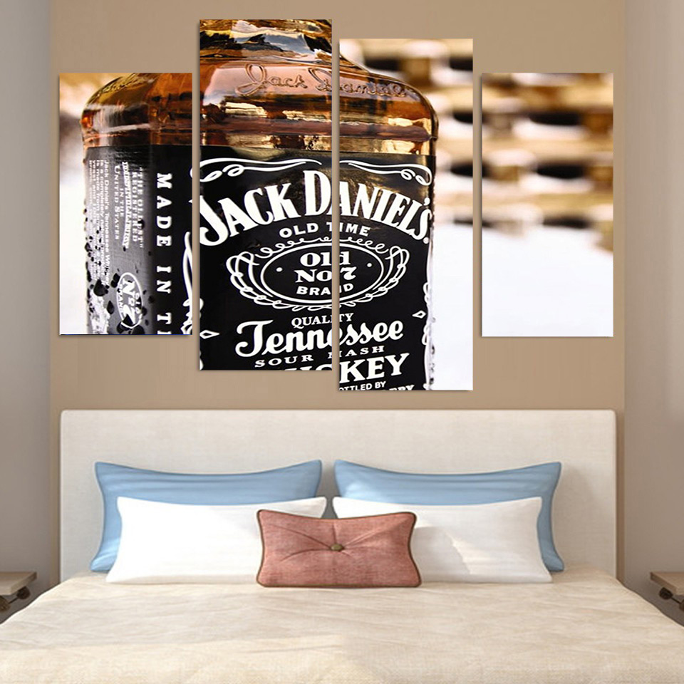 4 pcsset framed hd printed jack daniels whiskey old no7 poster 4 pcsset framed hd printed jack daniels whiskey old no7 poster picture canvas print home decor modern oil painting artworks in painting calligraphy from amipublicfo Gallery