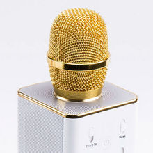 Q7 Portable Multi-function Wireless Microphone Karaoke KTV Player Handheld Condenser with Bluetooth Speaker for iPhone iPad