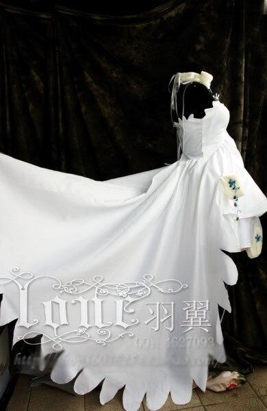 Женский Свадебный костюм из аниме Chobits Eruda, белый костюм для косплея