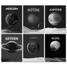 Mercury Saturn Pluto Venus Earth Neptune Planet Wall Art Canvas Painting Nordic Posters And Prints Pictures Kids Room Decor