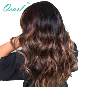 Lace Front Human Hair Wigs Body Wave Lace Wig Ombre Blonde Highlights Color Pre Plucked Hairline 150% Remy hair 13x4 Qearl(China)