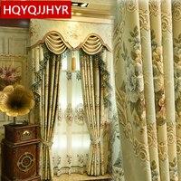 Europa Top luxus royal 3D jacquard Verdicken vorhänge für wohnzimmer Gehobenen villa dekoriert vorhang für schlafzimmer/Sterne Hotels