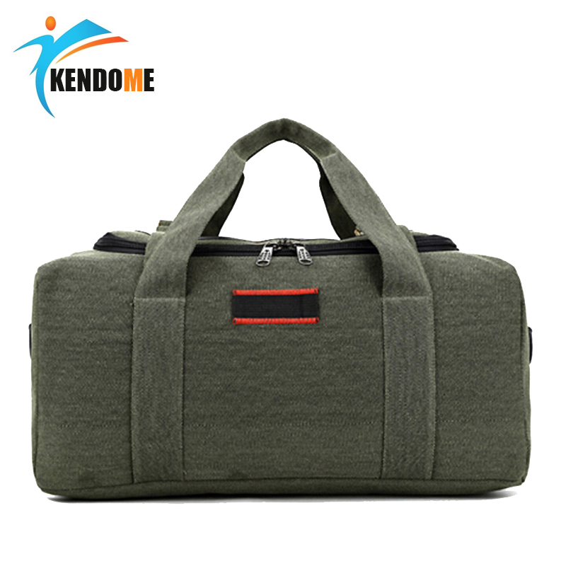 Top Quality Vintage canvas men Fitness bags carry on luggage bag men duffel bag travel tote large weekend outdoor sport Bag