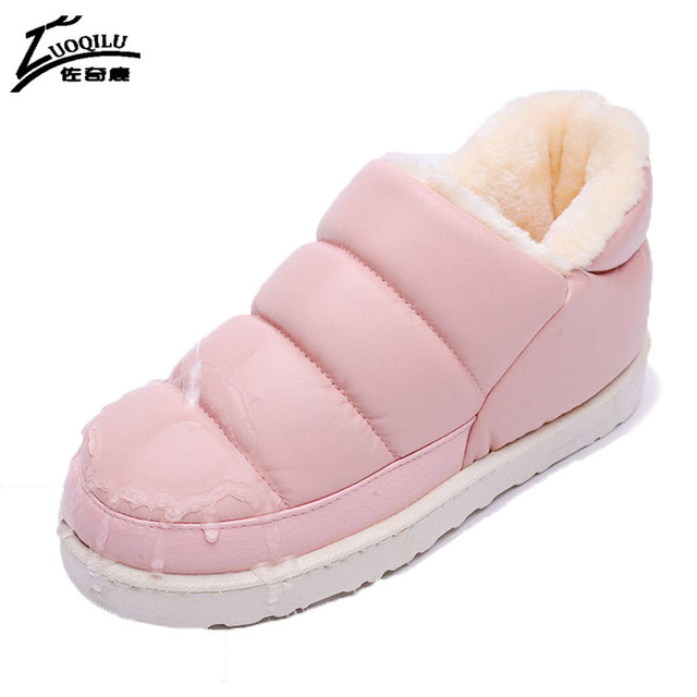 Women Winter Warm Slippers Women Slippers For Home Fur Slippers Indoor Plush Size House Shoes Woman 2017