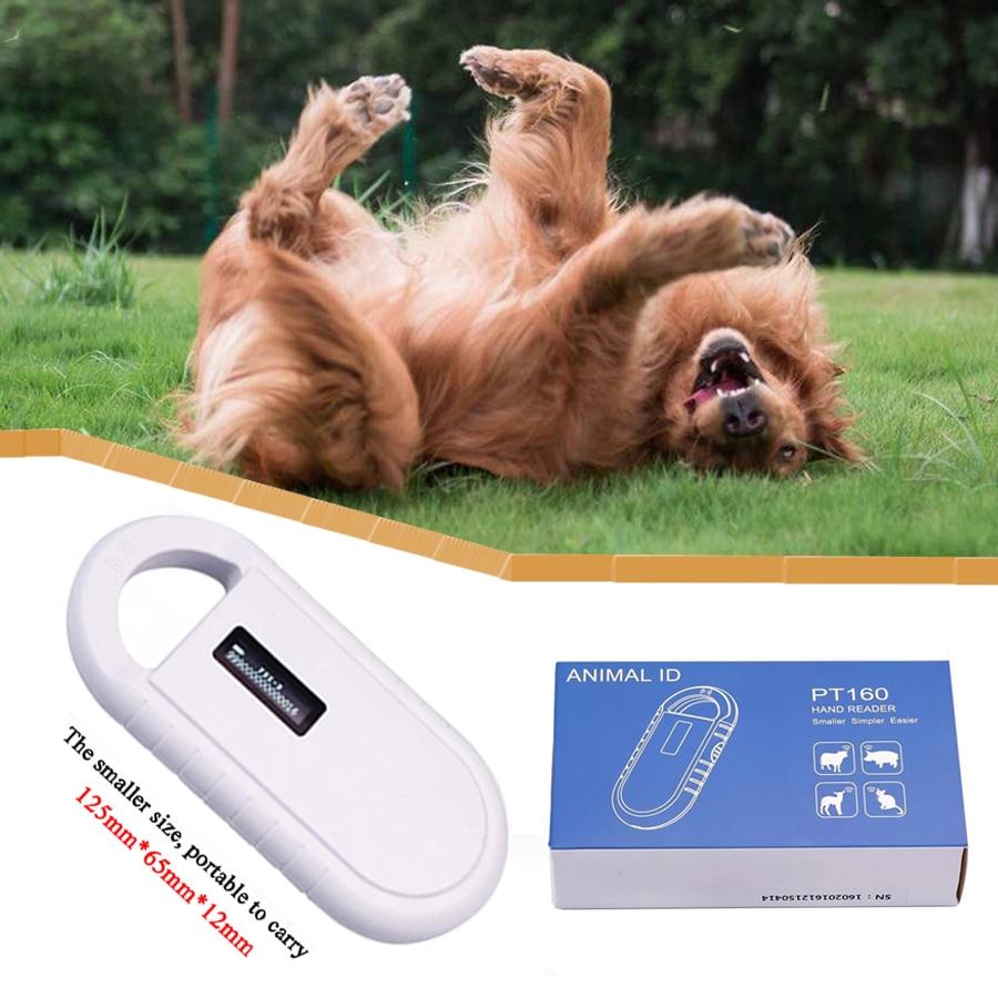 Scanner portatif de lecteur de puce de l'affichage RFID ISO11784/11785 134.2 Khz FDX-B d'oled pour le chien/chat - 6