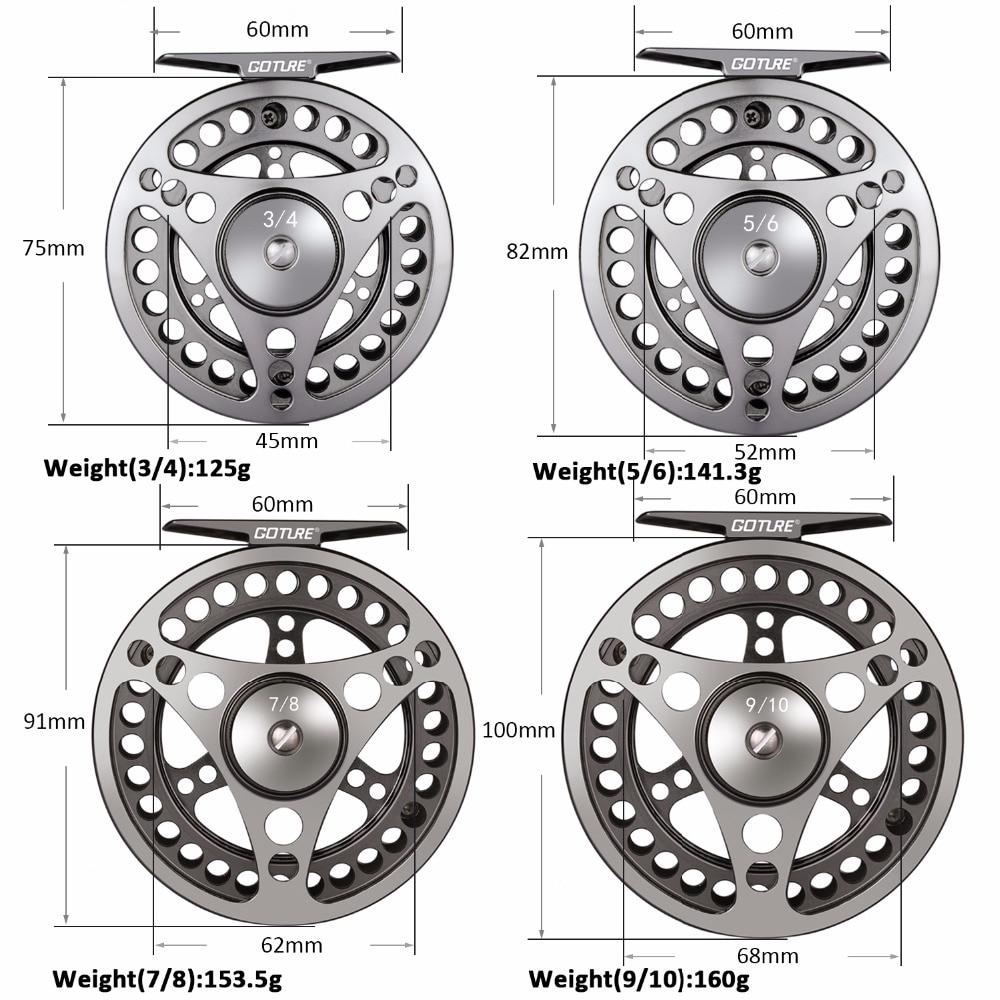 Goture CNC Machine Cut Fly Fishing Reel 3/4 5/6 7/8 9/10 Խոշոր - Ձկնորսություն - Լուսանկար 3
