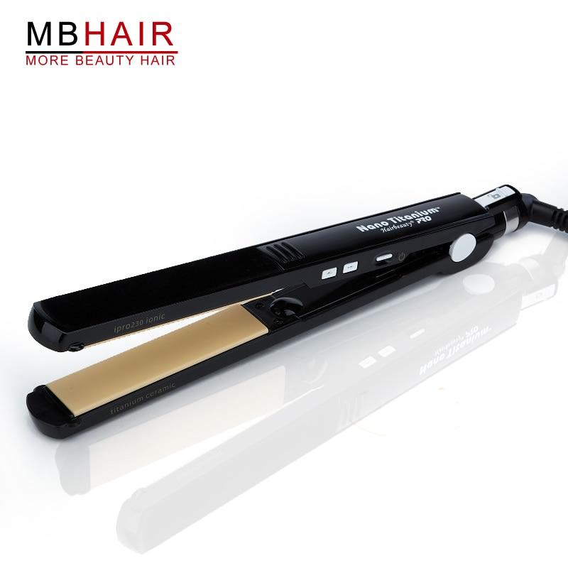profissional de alta qualidade titanio ceramica alisador cabelo alisamento ferro preto frete gratis