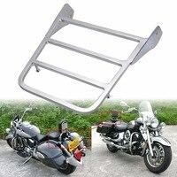 Motorcycle Chrome Sissy Bar Luggage Rack For Yamaha VStar 400 650 1100 Classic V Star Motorbike Rear seat