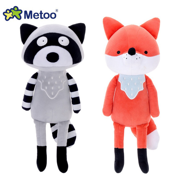 35 cm Metoo لطيف الكرتون محشوة الحيوانات ألعاب من القطيفة دمية الثعلب الراكون كوال الدمى للأطفال الفتيات عيد ميلاد عيد الميلاد الطفل هدية