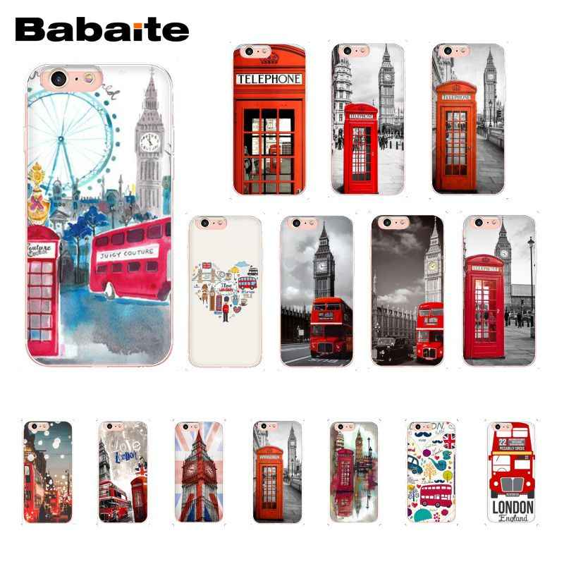 Babaite london bus england telephone Big Ben Pattern Soft Phone Case for iPhone X XS MAX 6 6S 7 7plus 8 8Plus 5 5S XR 10 Case