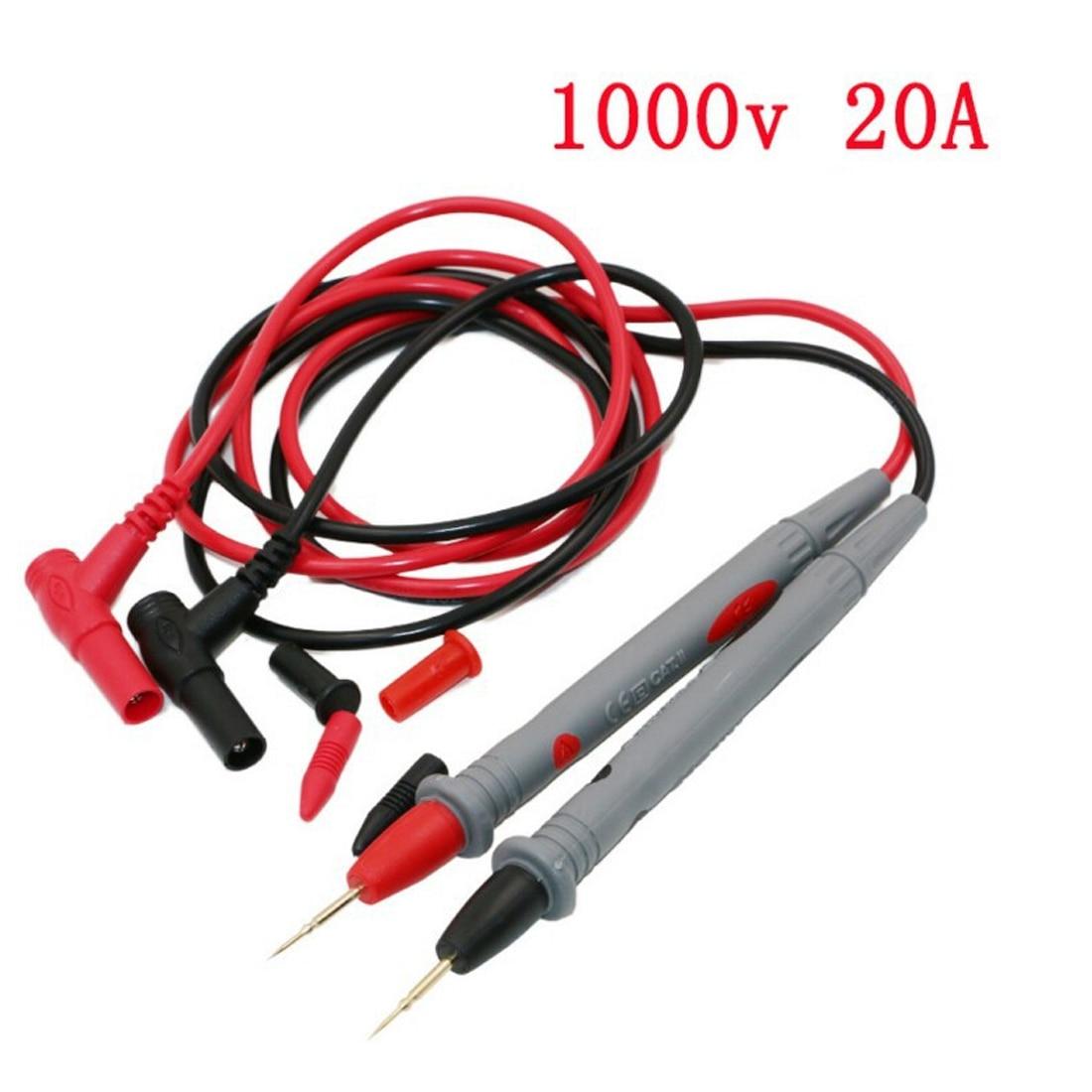 2 Pcs 1000V Electrical Voltmeter Meter Lead Wire Testing Hook 15cm Length