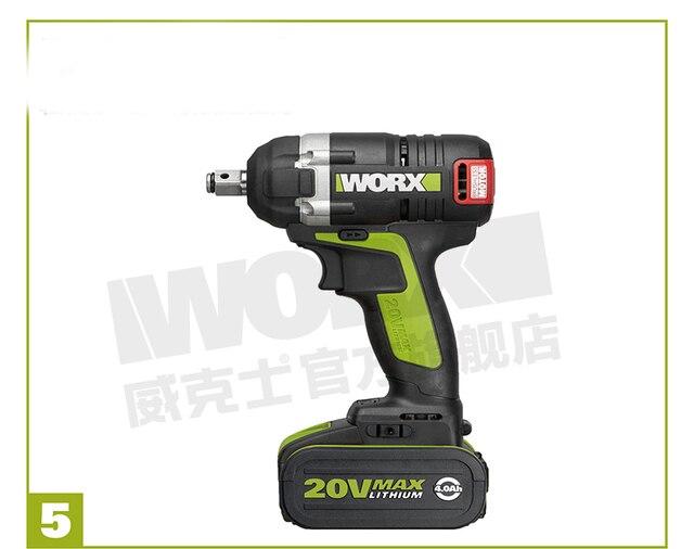 WORX professional tool В 20 в MAX Lith-Ion бесщеточный WU278 Электрический ударный ключ Max torque 300N. m для колеса автомобиля собрать