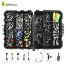 shaddock fishing 160PCS/Box Fishing Accessories Hooks Swivels Lead Fishing Sinker With Ring Carp Fishing Tackle Boxes