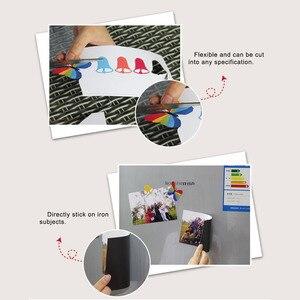 Image 3 - 5 шт./лот A4 Магнитная фотобумага печатный лист магниты на холодильник наклейка струйный магнит фотобумага матовая отделка бумага для принтера